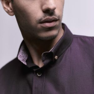 Long Sleeve Shirt with Contrast internal fabric