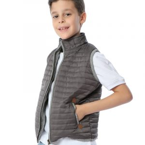 Waterproof Quilted Vest For Boys