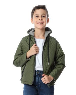 Waterproof Quilted Jacket For Boys