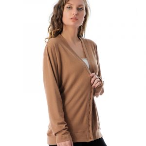 Solid Long Sleeve Button Cardigan
