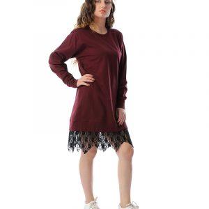 Layering Lace Hem Midi Dress