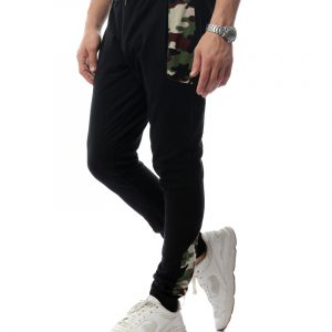 Contrast Sweatpants With Army Panels