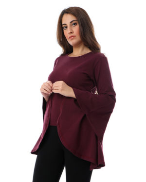 Blouse with wide Ruffles