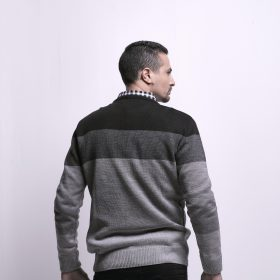 Wide Striped Pullover with Crew Neck