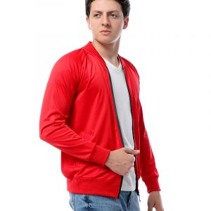 Basic Sweatshirt With Zipper For Men