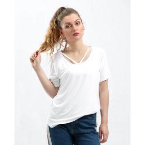 V Strap Neck T-Shirt