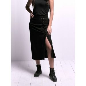 Black Skirt With Slit