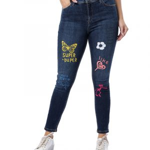Printed Slim Jeans For Women