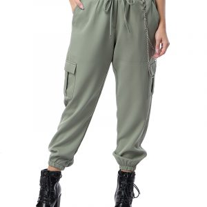 Chain Jogger With Side Pockets For Women