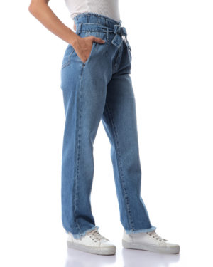 Flared Jeans With Belt For Women