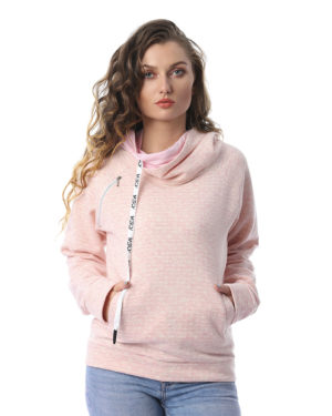 Dotted Hoodie Sweatshirt With Pockets