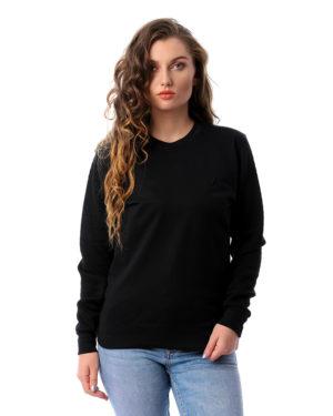 Solid Sweatshirt With Contrast Sleeves