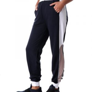 Sweatpants with Mesh Panel