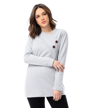 Long Sleeve Blouse with Buttons