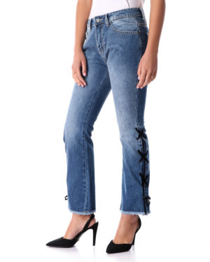 Women Denim with Ribbons