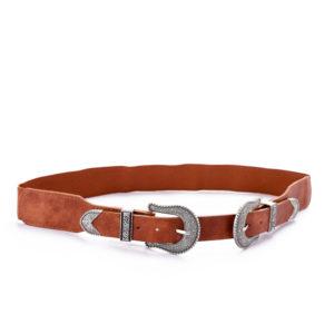 Double Buckle Waist Belt For Women