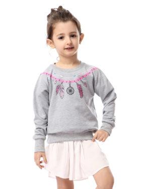 Girls Tribal Print Sweatshirt