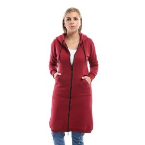 Over Sized Long Melton Jacket