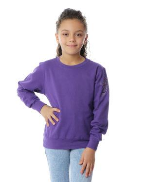 Star On Shoulder Girls Sweatshirt