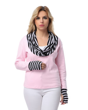 Striped Neck Sweatshirt