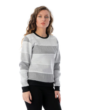 Solid Sweatshirt With Contrast Sleeves