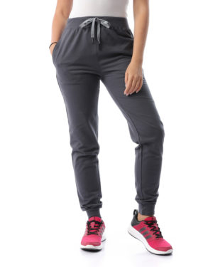Solid Melton Sweatpants For Women