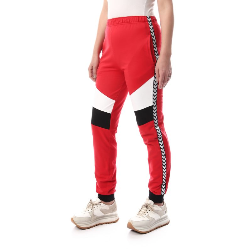 Sweatpants With Front Panels & Side Stripe For Women