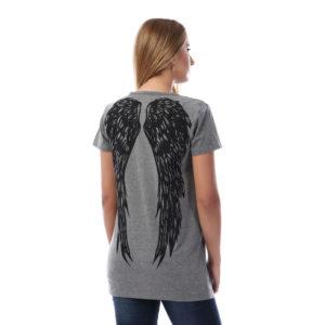 Angel Wings On Back Tshirt For Women