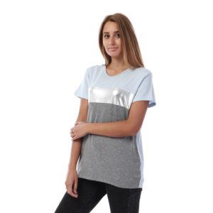 Silver Panel Tshirt For Women