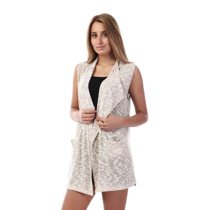 Shimmery Sleeveless Vest For Women