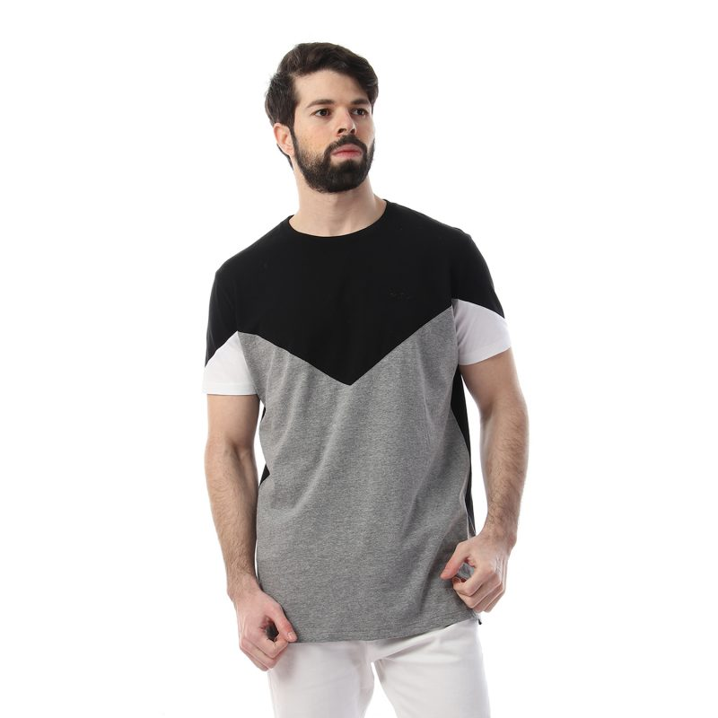 Paneled Chest & Arms Tshirt For Men