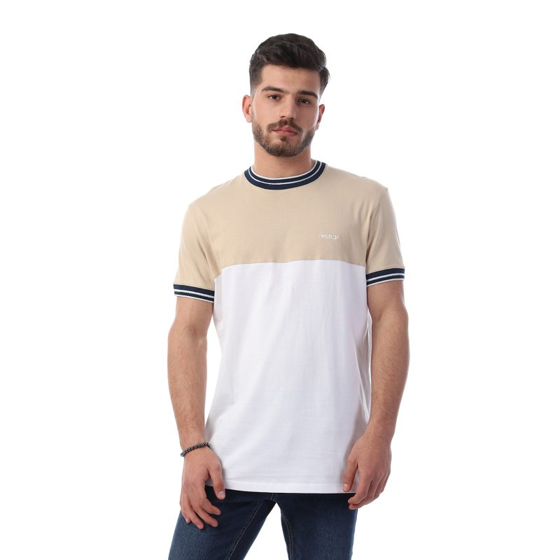 Ribbed Neck & Sleeves Tshirt For Men