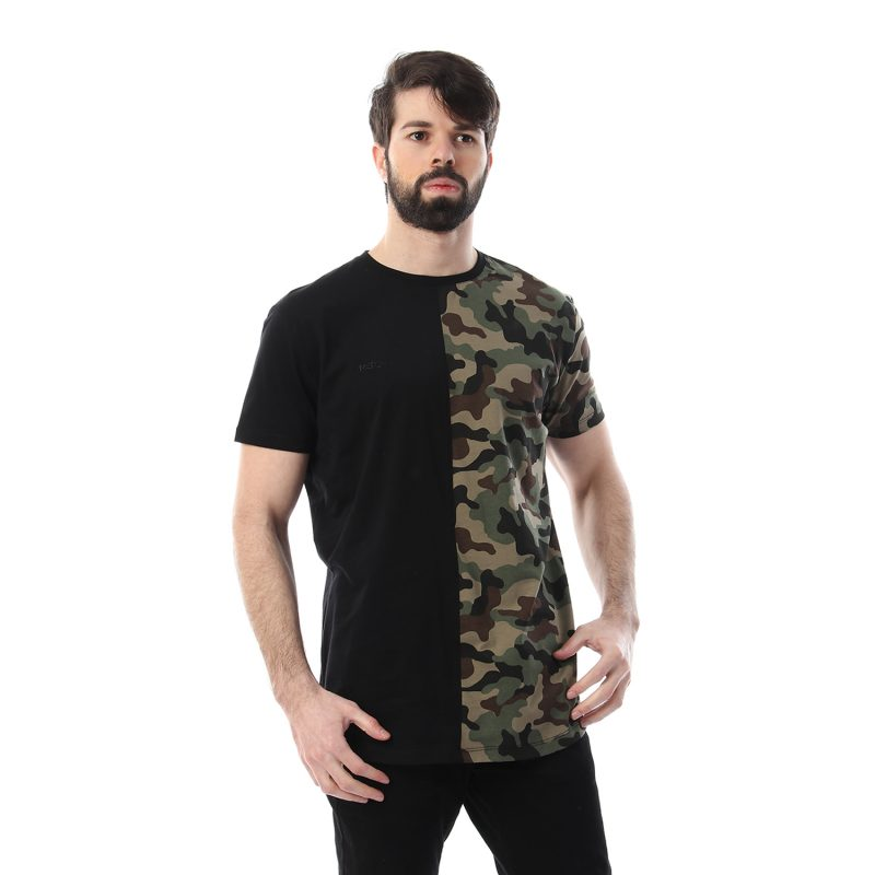 Half Army Tshirt For Men