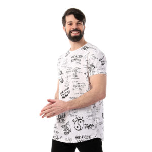 Graffiti Full Print Tshirt For Men