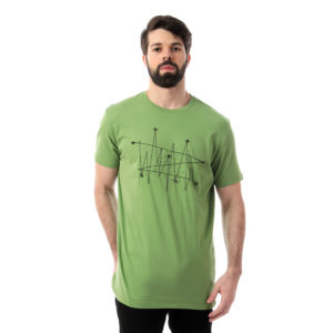 Geometric Dots Connected Tshirt For Men
