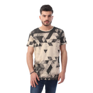 Triangular Full Print Tshirt For Men