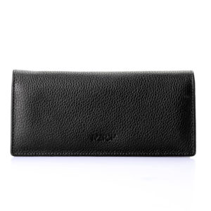 Folded Natural Leather Wallet For Women