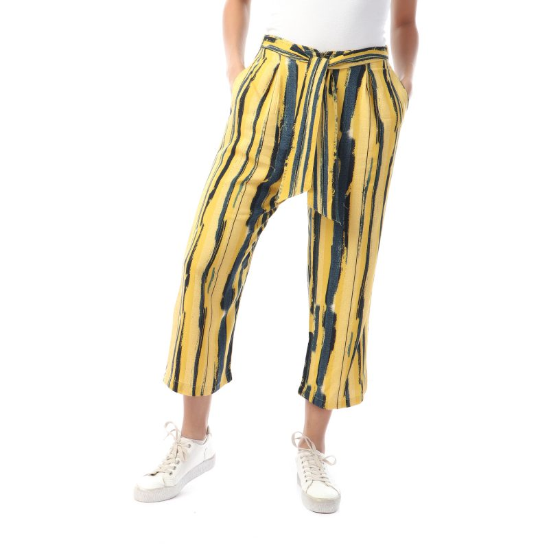 Stripy 3/4 Pants For Women