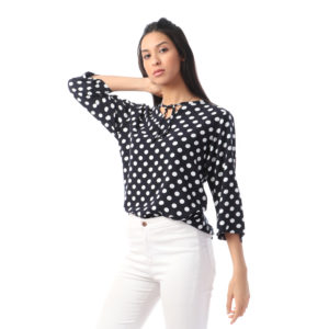 Polka Dots Blouse For Women
