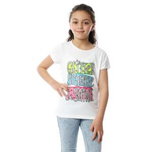 Glitter, Sparkle & Shine Tshirt For Girls