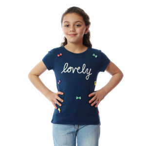 Lovely With Bows Tshirt For Girls