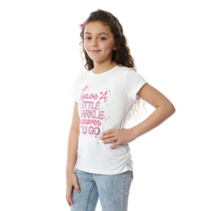 Heart Sequin Patch Tshirt For Girls