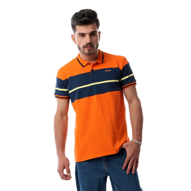 Polo Shirt With Chest Pannel