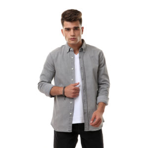Denim Long Sleeve Shirt For Men