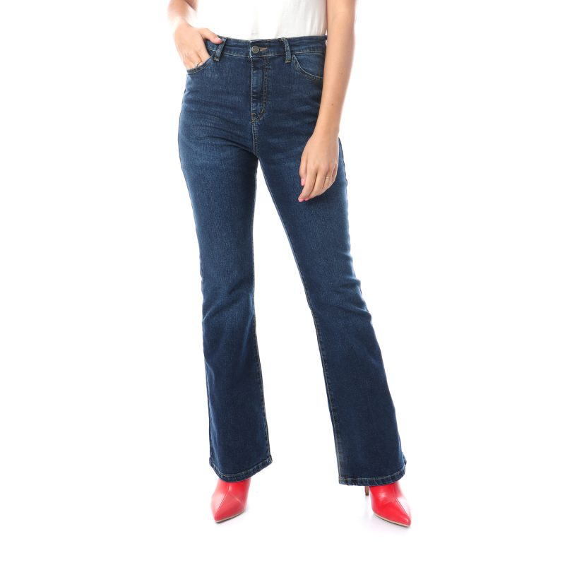Flare Denim Pants For Women