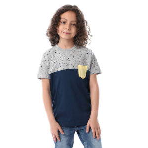 Color Block With Side Pocket For Boys